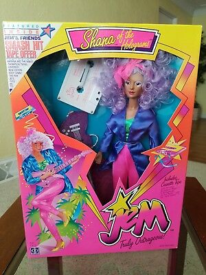 Jem and the Holograms 1986 Classic 2nd Year Shana Doll MIB by Hasbro