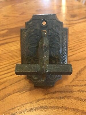 Vintage Antique Eastlake Victorian Mid Evil Ornate Cast Iron Door Pull Handle