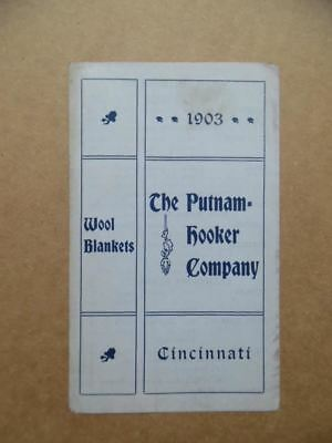 1903 Putnam Hooker Co. Wool Blanket Catalog Price List Pamphlet Indian Antique