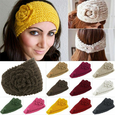 Fashion Lady's Headband Knit hair band Flower Winter Women Ear Warmer Head wrap