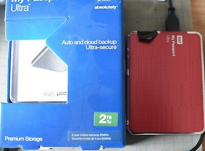 WD My Passport Ultra 2TB USB Festplatte