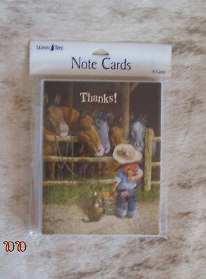 LEANIN TREE Thanks! ~ Child with Carrots for the Horses #35483 ~ 8 Notecards