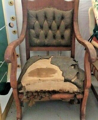 Antique Early 20th century Cherry Arm Chair