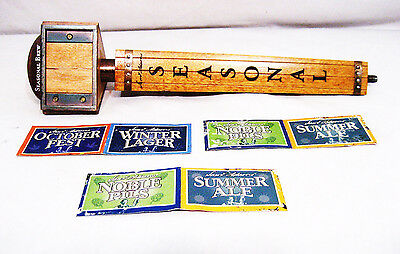 "Samuel Adams Seasonal 13"" Tap Handle - 3 Sided - 3 Multi Season Cards"