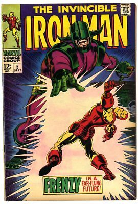 Iron Man #5 FN+ 6.5  Marvel  1968  No Reserve