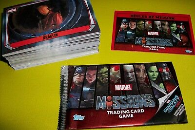 MARVEL MISSIONS lot de 184 cartes + 41 brillantes