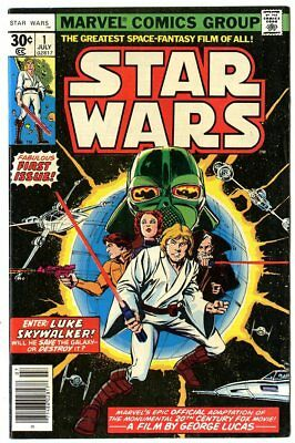 Star Wars #1 VF/NM 9.0 ow/white pages  Marvel  1977  No Reserve
