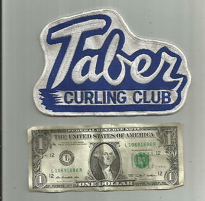 Vintage Large Taber Curling Club Patch Taber Canada 6 1/4 Inches Wide Unsewn