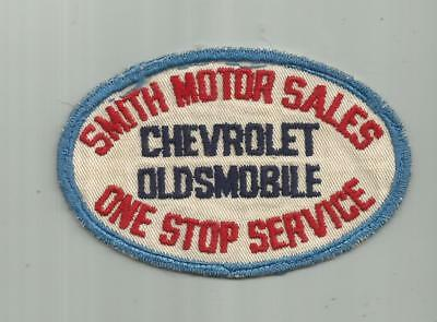 1950's COLLINS OLDSMOBILE CAR DEALERSHIP PATCH INDIANAPOLIS INDIANA IN 4 1/4 IN