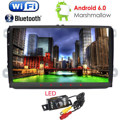 """HD 9"""" Android 6.0 2Din Car Radio Stereo MP3 Player GPS Multimedia Wifi 3G for VW"""