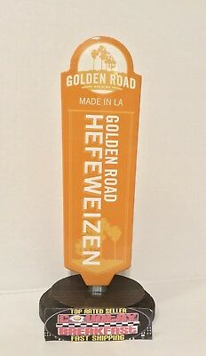 "Golden Road Brewing LA Hefeweizen Beer Tap Handle 8"" Tall - Excellent Condition"