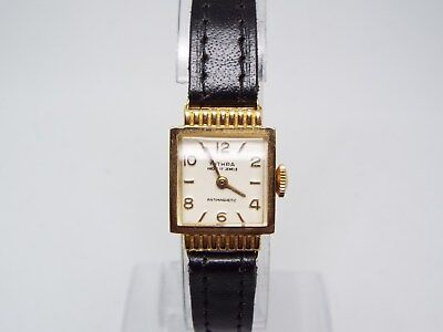 29) Ladies Vintage 18ct Solid Gold Mithra Ancre 17 Rubis Mechanical Wrist Watch