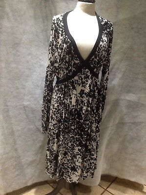 147f1b5af0ded8 MAMAS & PAPAS Maternity Dress, Size 18, Black and White - $12.86 ...