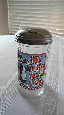 Sylvester And Tweety Bird One Lump Or Two Glass  Sugar Shaker