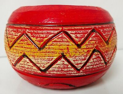 Vintage Mexico Made Pottery Planter Signed Fina