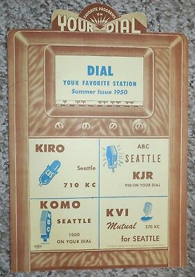 1949 SEATTLE WA KJR KVI KOMO KIRO Radio Stations Advertisement Rainier Beer NR