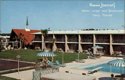 Perry,FL Howard Johnson's Motor Lodge and Restaurant Taylor County Florida