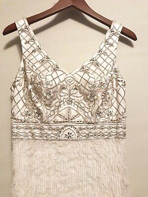 Sue Wong Lace Embroidered Wedding Gown Sz 4