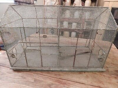 Primitive Antique Large One of a Kind Bird Cage *Estate Find* Hand Made *Double*