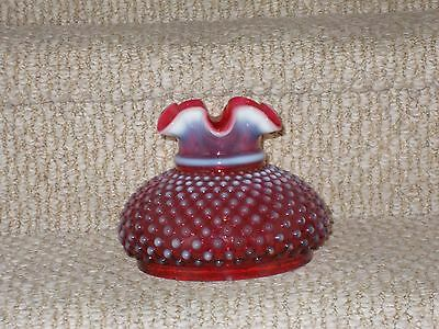 """Fenton Cranberry Opalescent Hobnail 6"""" Lamp Shade"""