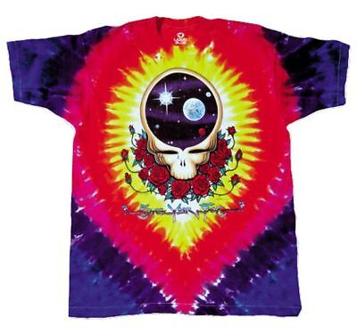 Grateful Dead Tie Dye T Shirt Space Your Face LICENSED Steal Your Face 3XL - 6XL