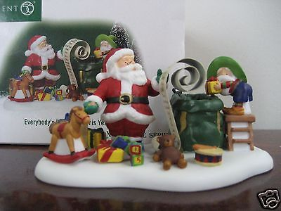 Dept 56 North Pole EVERYBODY'S BEEN GOOD THIS YEAR - NIB