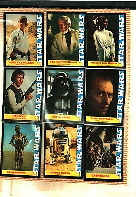 1977  Star Wars Wonder Bread Complete Set Of 16 Trading Cards Ex To Nm Condition