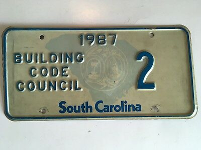 1987 South Carolina Political Government License Plate Low Number 2-Digit #2