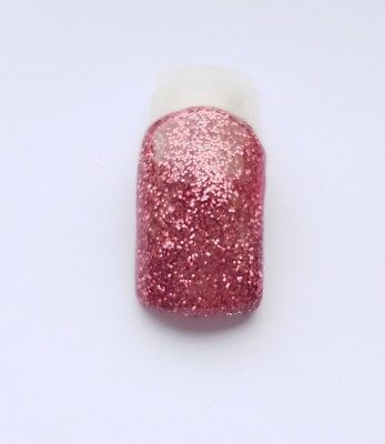 Rose gold pink glitter acrylic powder NSI pre-mixed 3g pot