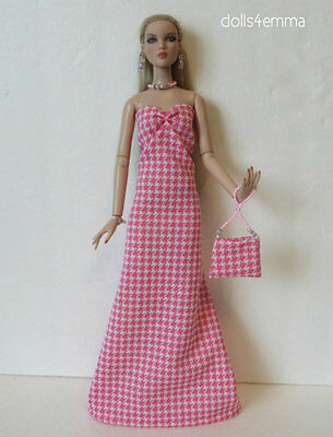 "GOWN, PURSE & JEWELRY for CAMI Antoinette 16"" Tonner dolls Fashion NO DOLL d4e"