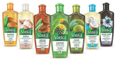 Dabur Vatika Enriched Natural Hair Oil Black Seed Coconut Galic Cactus Olive Oil