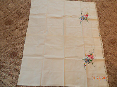 Pair of Vintage Embroidered Pillowcases-NICE!!