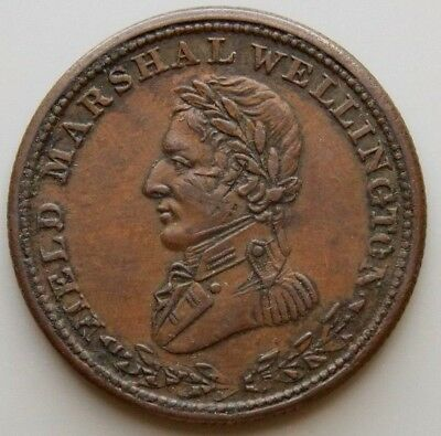 1813 WE-1A3  Field Marshal Wellington Canada Colonial Canadian 1/2 Penny Token