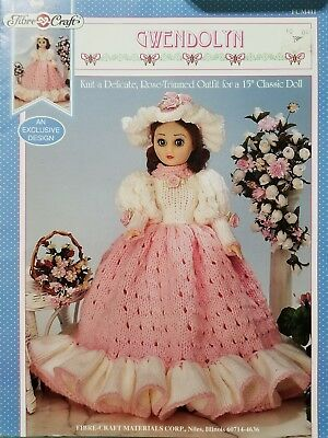 6 Fibre Craft Doll Clothes Sewing Patterns 13 To 15 Dolls 1698