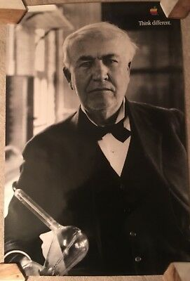 """Thomas Edison 24""""X 36"""" Apple Think Different Poster - Very Nice"""