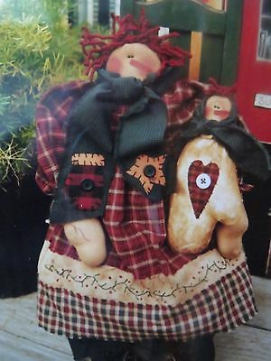 ** HOLLY SNOW GAL **   Cloth Doll Pattern....by Meme's Quilts