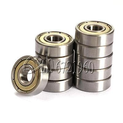 10PCS 608zz Deep Groove Ball Bearing Carbon Steel For Skateboard Roller Blade