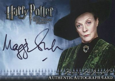 Harry Potter Half Blood Prince Maggie Smith Autograph Card