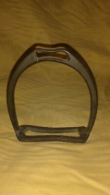 Vintage Cast Iron Stirrup > Antique Old Western Horse Bits Bridles Metal