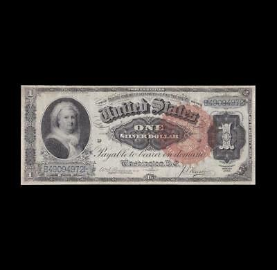 Extremely Rare 1886 $1 Silver Certificate Martha Strong Extra Fine+