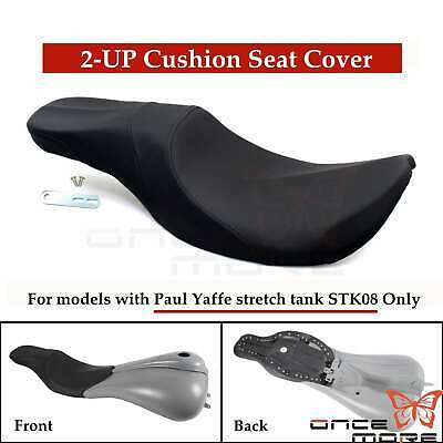 2-up Seat Cover For Paul Yaffe Stretched Gas Tank Harley Touring Electra Glide
