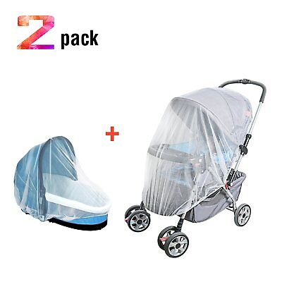 TimberRain Baby Mosquitoes Net 2 Pack, Fit Most Infant Carriers, Strollers, Car