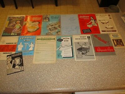 Lot of 14 Vintage Appliance Manuals Hamilton Beach Hotpoint Sunbeam General Elec