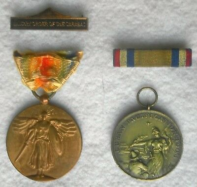 US Navy Medal Lot: Numbered Cuban Pacification and Victory Medals