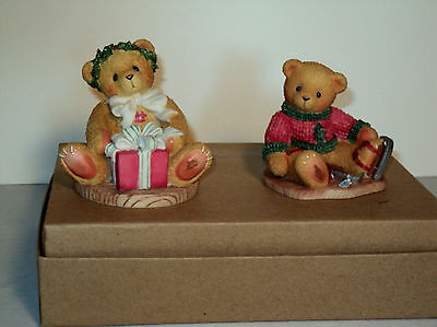 Cherished Teddies Christmas Lot of 2 AVON Excl JEROME 546534 & MARGY 475602