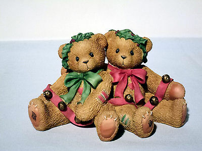 Cherished Teddies Christmas BONNIE & HAROLD 466301 Ring In The Holidays With Me