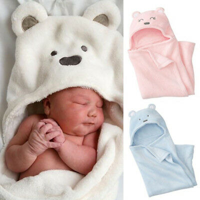 Baby Kids Blanket Towels Cotton Animal Shape Hooded Bath Towel Bathrobe Clothes