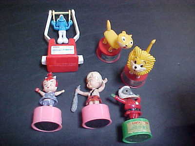 Flintstones, Smurf Flying Trapeze, Lucky The Lion  More Kohner Push Puppets