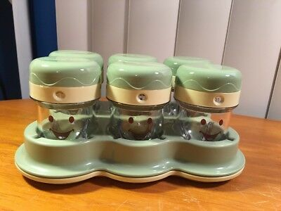 Magic Baby Bullet Food Processor 6 Date Dial Storage Cups Tray New Unused
