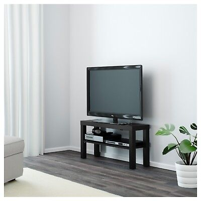 IKEA TV Bench Black or White Table Entertainment Unit Stand Cabinet